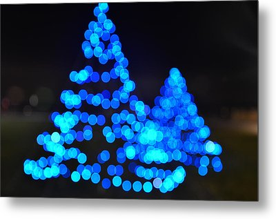 Blue Christmas Metal Print by Steve Myrick