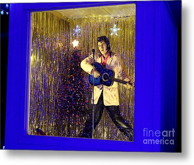 Blue Christmas Without Elvis Metal Print by Kathy  White