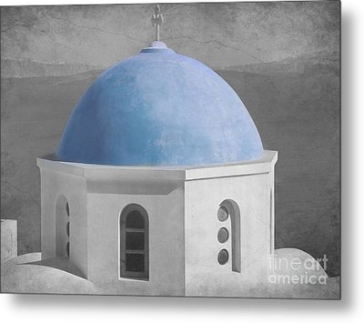 Blue Church Dome Metal Print by Sophie Vigneault