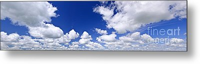 Blue Cloudy Sky Panorama Metal Print by Elena Elisseeva