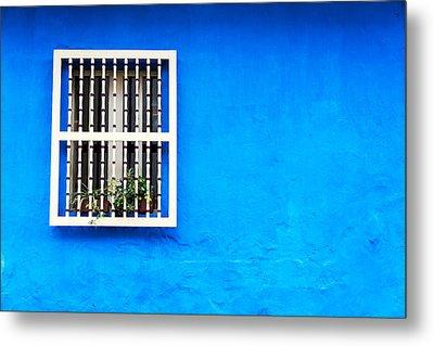 Blue Colonial Wall Metal Print by Jess Kraft