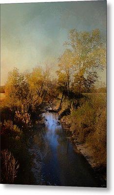 Blue Creek In Autumn Metal Print by Jai Johnson