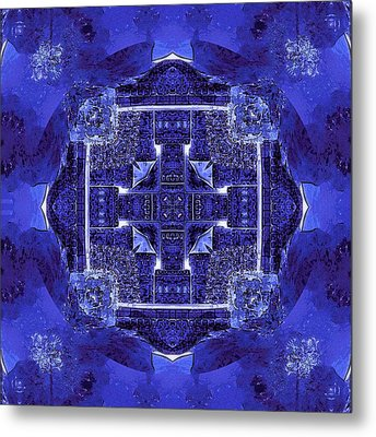 Metal Print featuring the digital art Blue Cross Radiance by David Mckinney