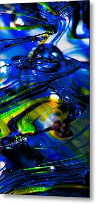 Blue Crystal Metal Print by David Patterson