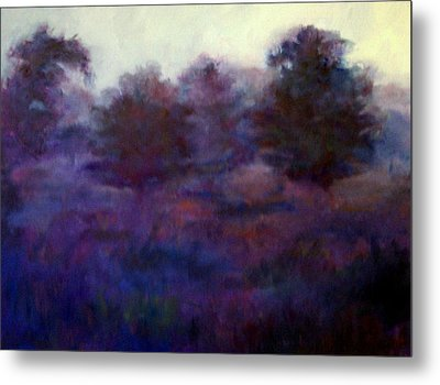 Metal Print featuring the painting Blue Dawn by Rosemarie Hakim
