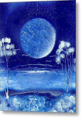 Blue Desert Night Metal Print by Marc Chambers