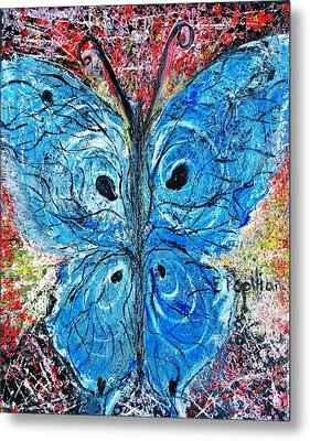 Blue Design Metal Print by Evelina Popilian