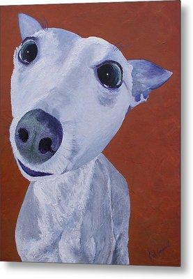 Blue Dog Metal Print by Trish Campbell