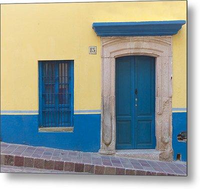 Blue Door Metal Print by Douglas J Fisher