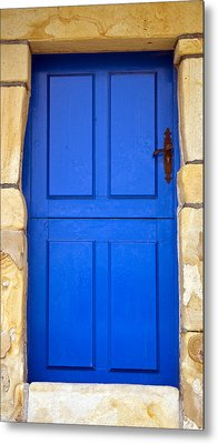 Blue Door Metal Print by Frank Tschakert