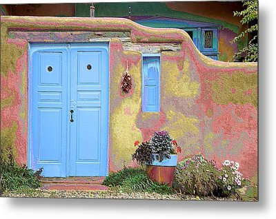 Blue Door In Ranchos Metal Print