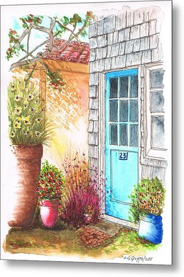 Blue Door In Venice Beach, California Metal Print