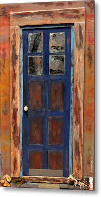 Blue Door Wyoming Metal Print