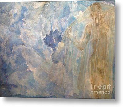 Metal Print featuring the painting Blue Dream by Delona Seserman