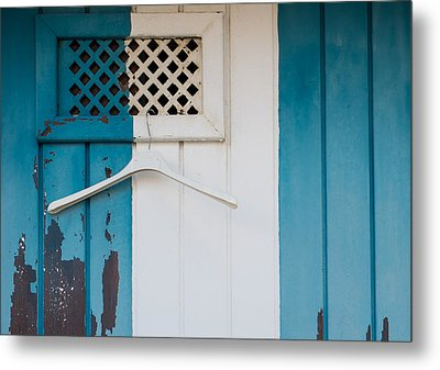 Blue Dressed Beach Metal Print
