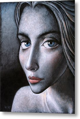 Blue Eyes Metal Print by Ilir Pojani