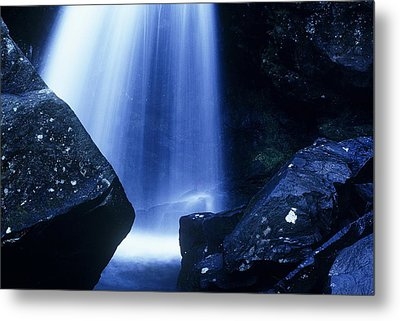 Metal Print featuring the photograph Blue Falls by Rodney Lee Williams