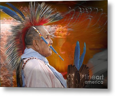 Blue Feather Metal Print by Angelika Drake