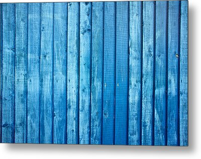 Blue Fence Metal Print by Tom Gowanlock