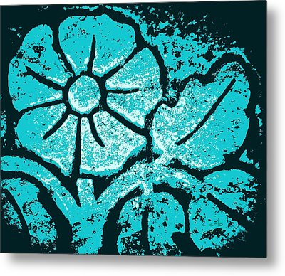 Blue Flower Metal Print by Chris Berry
