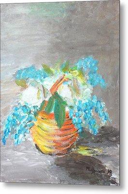 Blue Flowers Metal Print by Mauro Beniamino Muggianu