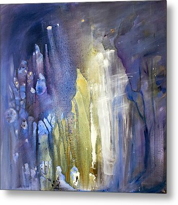 Blue Forest  Metal Print by Tanya Byrd