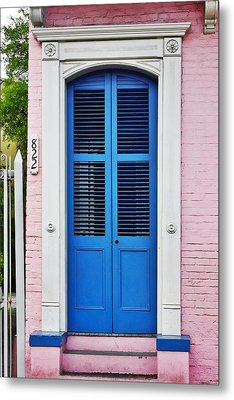 Blue Front Door New Orleans Metal Print by Christine Till