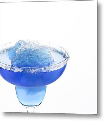 Blue Frozen Iceberg Margarita Metal Print