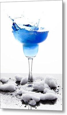 Blue Frozen Iceberg Margarita Splash Metal Print
