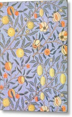 Blue Fruit Metal Print by William Morris