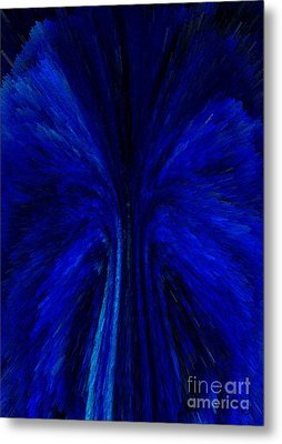 Blue Fuzz Metal Print by Patricia Kay