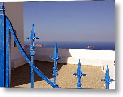Blue Gate Metal Print by Debi Demetrion