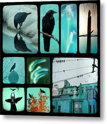 Blue Metal Print by Gothicrow Images