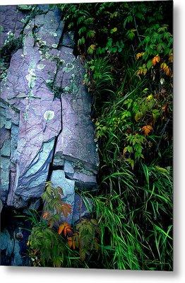 Blue Granite Metal Print by Ric Soulen
