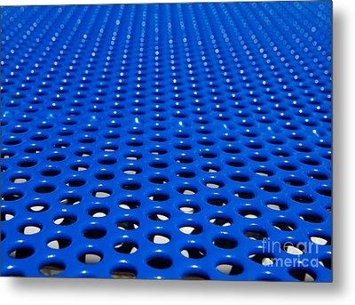 Blue Grate Metal Print by Robert Keenan