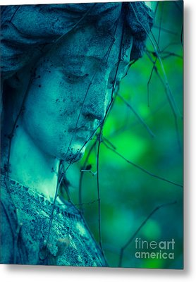 Blue Green Angel Metal Print by Sonja Quintero