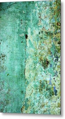 Blue Green Wall Metal Print