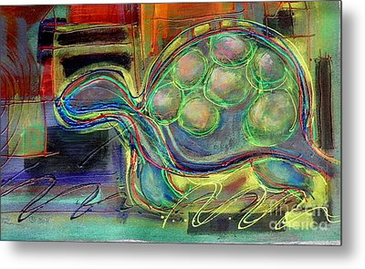 Blue Hawain Turtle Metal Print