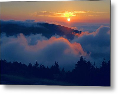 Blue Hill Sunset - Acadia Metal Print by Stephen  Vecchiotti