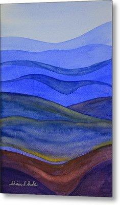 Blue Hills Metal Print by Shirin Shahram Badie