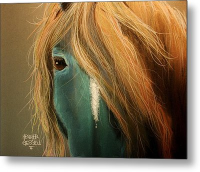 Blue Horse Metal Print by Heather Gessell