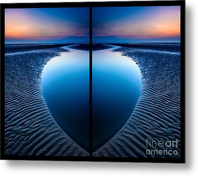 Blue Hour Diptych Metal Print by Adrian Evans