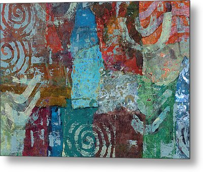 Metal Print featuring the mixed media Blue House by Catherine Redmayne