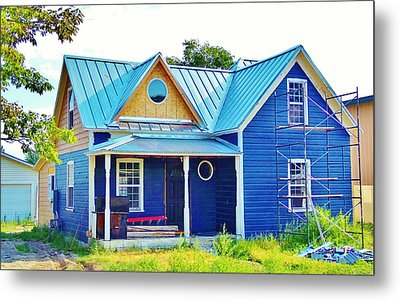 Blue House Metal Print by Larry Campbell