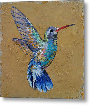Turquoise Hummingbird Metal Print by Michael Creese