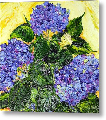 Blue Hydrangea II Metal Print by Paris Wyatt Llanso