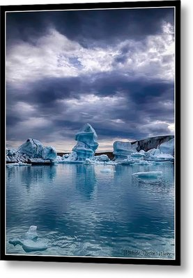 Blue Ice 2 Metal Print