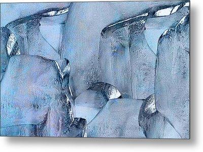 Blue Ice Metal Print by Jack Zulli