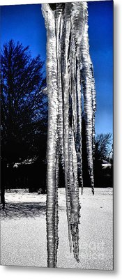 Metal Print featuring the photograph Blue Ice by Luther Fine Art