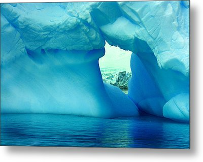 Blue Iceberg Antarctica Metal Print